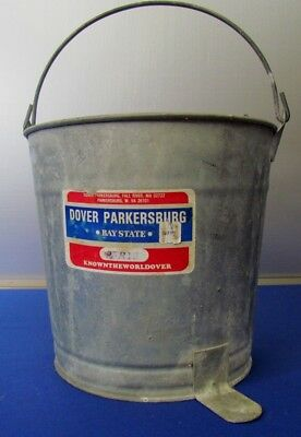 DOVER MOPPING EQUIPMENT No. TR12 Galvanized Mop Pail Wringer Bucket