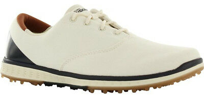 Skechers Ladies Spikeless Go Golf Elite V.2 Shoes Natural Navy 8 Medium a13008a00