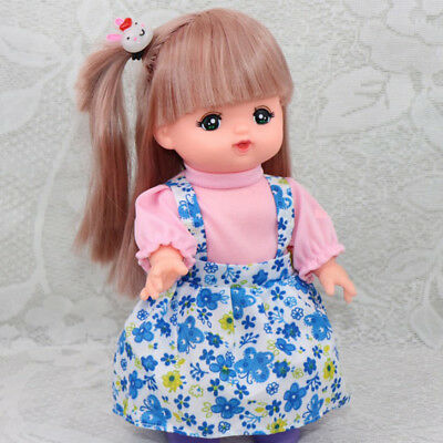 Dolls Clothes False Two-piece Dress Skirt and Hair Band For Mellchan Dolls