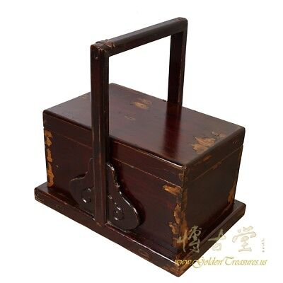 Antique, Chinese Hand Carved Meal delivery and Lunch Box