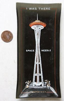 1962 Seattle Worlds Fair Space Needle souvenir smoked glass ashtray-I WAS THERE!
