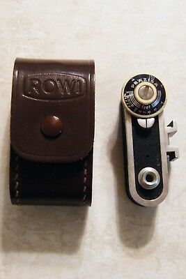 """Vintage Prazisa Rangefinder (2 1/2"""" Long) With ROWI Leather Case Made in Germany"""