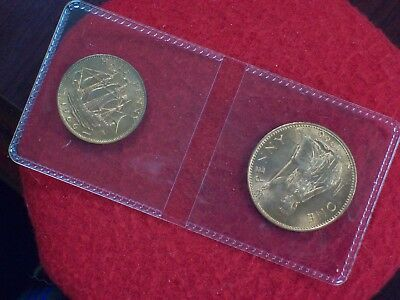 1966 Great Britain Penny and 1/2 Penny  (high grade)