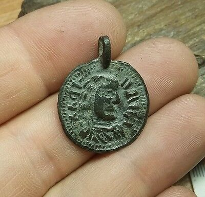 Perfect Old Antique Post- Medieval Pendant .Wearable  #2302