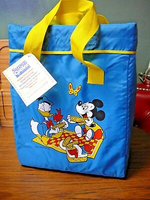 "Disney Insulated Cooler Handled Bag 15"" x 12"" x 7"" Mickey Donald Picnic"