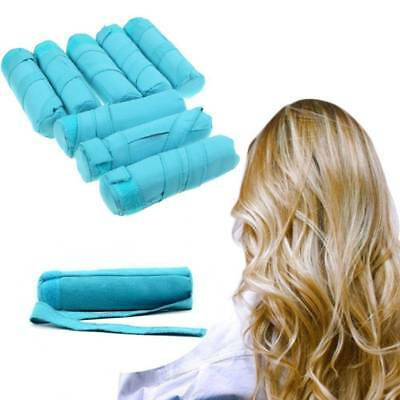 "Styler in Sleep Kit Long NIP 8 Teal Rollers Curlers 6"" Long Shark Tank Curler"