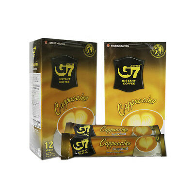 G7 Cappuccino Hazelnut Instant Coffee Sachets 12 Serves, Pack of 2