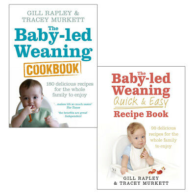 Baby led Weaning Quick and Easy 130 delicious recipes 3 Books Collection Set NEW