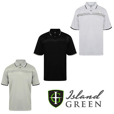Island Green Mens Golf Polo Shirts Contrast Short Sleeve Casual Shirt  IGTS1651