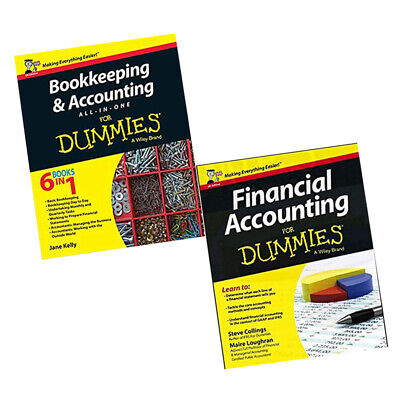 Financial Accounting For Dummies Bookkeeping Accounting 2 Books Collection Set
