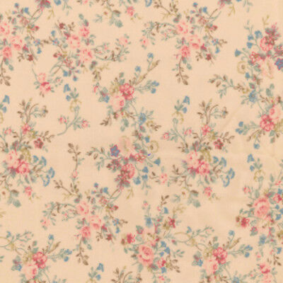 Shabby Chic Vintage Aged Design 100% Cotton Fabric Patchwork Quilting Crafts