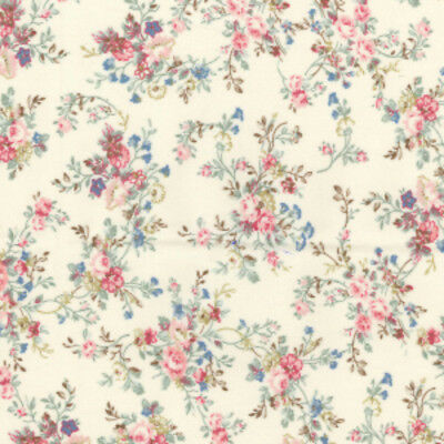 Shabby Chic Vintage Ivory Design 100% Cotton Fabric Patchwork Quilting Crafts