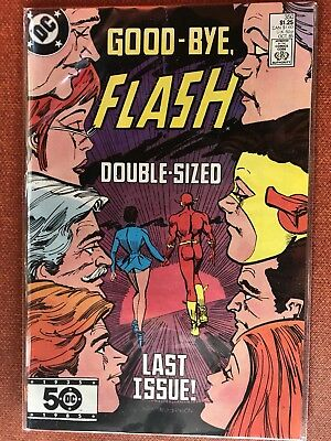The Flash 350! VF/NM Final Issue! Crisis On Infinite Earths lead-in