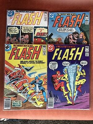 Flash 4 Issues Consecutive Lot! 278, 279, 280, 281! Reverse Flash!