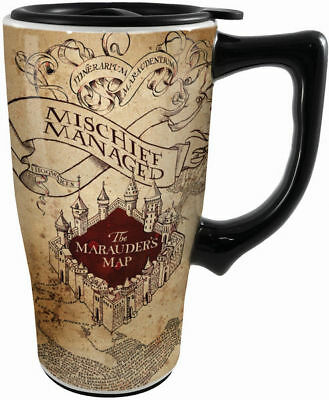 Harry Potter Ceramic Travel Coffee Mug: Marauders Map