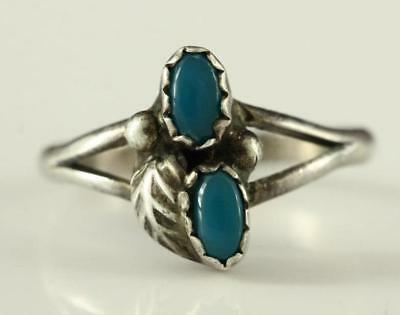 MODERN Fine Sterling Silver 925 Jewelry Native American Size 6 Blue Stone Ring