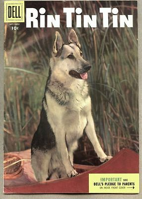 Rin Tin Tin #10-1955 fn+ Sparky Moore Dell comic based on TV Show photo cover