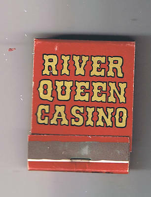River Queen Casino Front Striker Vintage Matchbook Las Vegas Nevada