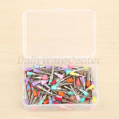 100Pcs 2.6cm Dental Nylon Latch Flat Polishing Polisher Prophy Mixed Color Brush