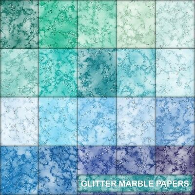 Texture Glitter Look Marble Scrapbook Paper - D - 20 A4 Pages