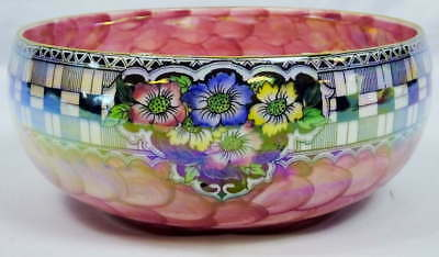 Vintage Maling Pottery Pink Art Deco Lusterware Bowl Newcastle England 6253