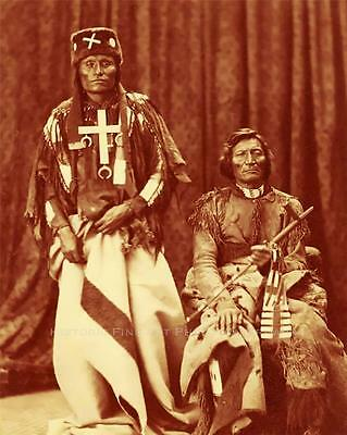 Cheyenne Indian Chiefs Little Wolf Dull Knife Vintage Photo Old West  #21284