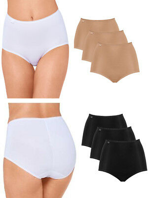Sloggi 24/7 Microfibre Maxi 3 Pack 10180846 3 Pairs Briefs Knickers Size 10-26