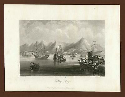 Hong Kong, Stahlstich steel engraving ca. 1870