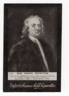 Vintage 1901 Trade Card of SIR ISAAC NEWTON