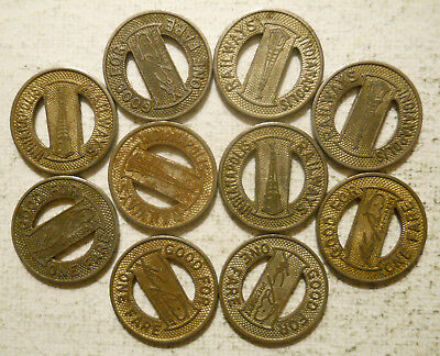 Indiana Transit Tokens- 25 Tokens Mixed All Indy! Indianapolis Railways