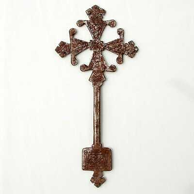 Rare Ethiopian Blessing Iron Hand Cross Coptic Orthodox Christian Religious Art