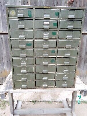 HOBART Metal Parts Cabinet 27 Drawer Heavy Steel HOBART CABINET COMPANY