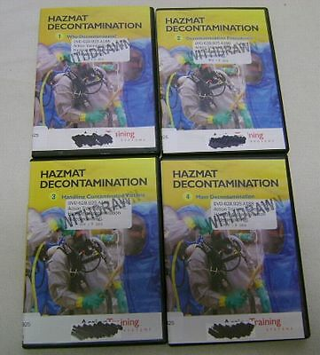 Lot 4 Firefighter Hazmat Chemical Spill, Accident Decontamination Training DVDs