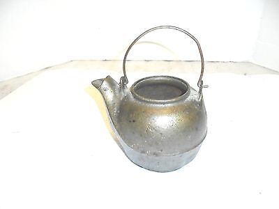 small cast iron teapot no lid flower garden porch decor