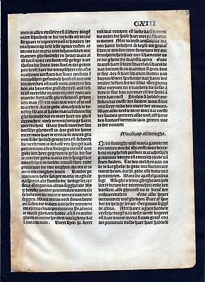 1499 Blatt CXIII Inkunabel Vita Christi Zwolle incunable Dutch Holland