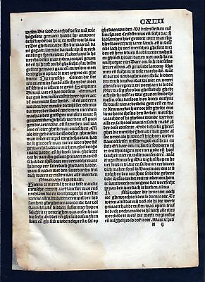 1499 Blatt CXLII Inkunabel Vita Christi Zwolle incunable Dutch Holland