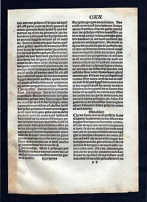 1499 Blatt CXX Inkunabel Vita Christi Zwolle incunable Dutch Holland