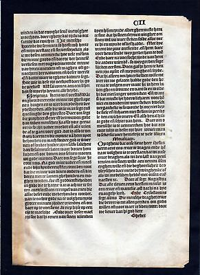 1499 Blatt CII Inkunabel Vita Christi Zwolle incunable Dutch Holland