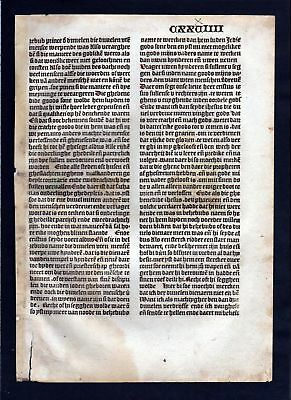 1499 Blatt CXXXIIII Inkunabel Vita Christi Zwolle incunable Dutch Holland