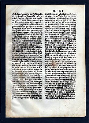 1499 Blatt CLVII Inkunabel Vita Christi Zwolle incunable Dutch Holland