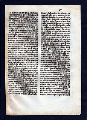 1499 Blatt C Inkunabel Vita Christi Zwolle incunable Dutch Holland