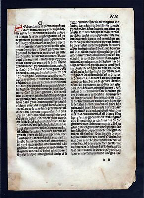 1499 Blatt XX Inkunabel Vita Christi Zwolle incunable Dutch Holland