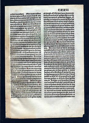 1499 Blatt CXXII Inkunabel Vita Christi Zwolle incunable Dutch Holland