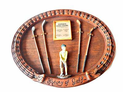History of Golf Wall Plaque History of Antique Golf Clubs 3D
