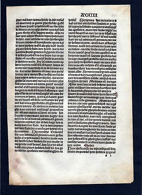 1499 Blatt XCVII Inkunabel Vita Christi Zwolle incunable Dutch Holland
