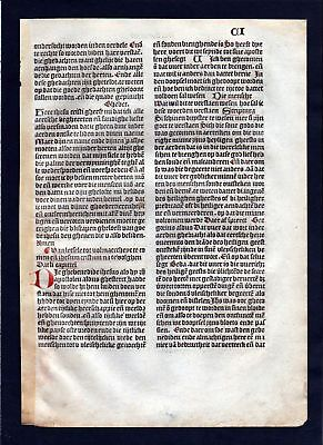 1499 Blatt CI Inkunabel Vita Christi Zwolle incunable Dutch Holland