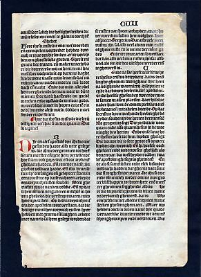 1499 Blatt CVII Inkunabel Vita Christi Zwolle incunable Dutch Holland