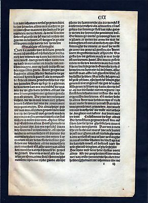 1499 Blatt CV Inkunabel Vita Christi Zwolle incunable Dutch Holland