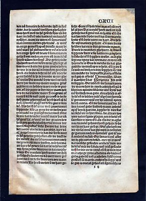 1499 Blatt CXVI Inkunabel Vita Christi Zwolle incunable Dutch Holland