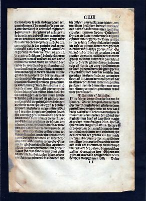1499 Blatt CIII Inkunabel Vita Christi Zwolle incunable Dutch Holland